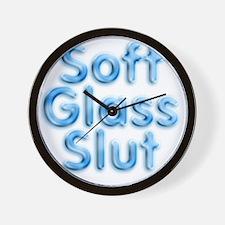 Soft Glass Slut Wall Clock