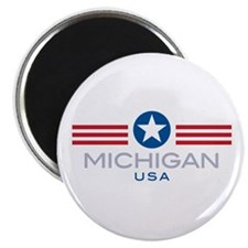 "Michigan-Star Stripes: 2.25"" Magnet (10 pack)"