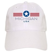 Michigan-Star Stripes: Baseball Cap