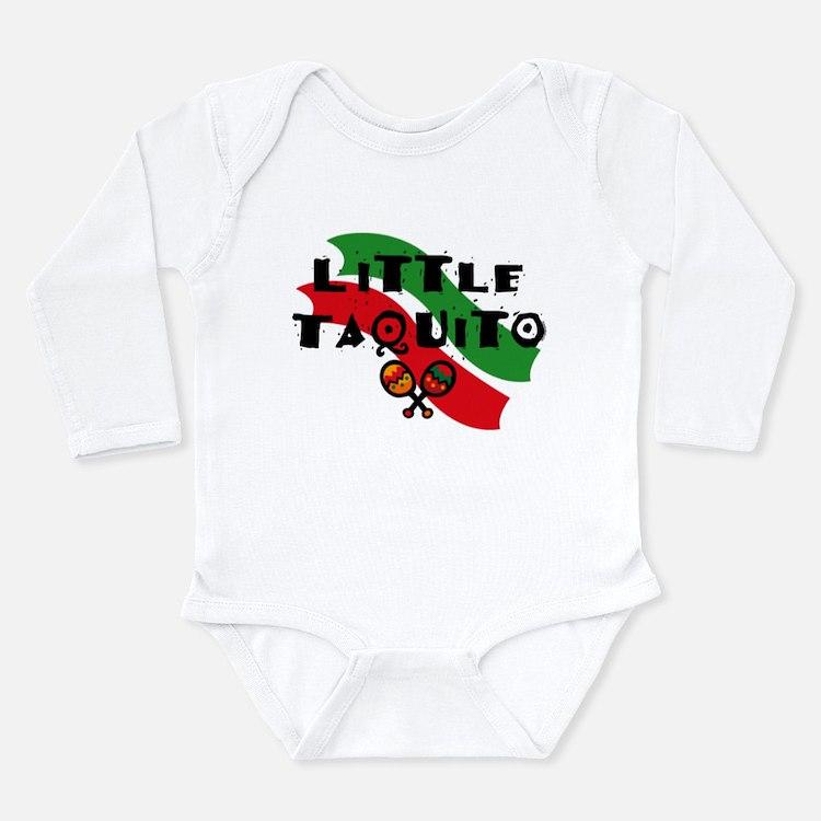 Little Taquito Long Sleeve Infant Bodysuit