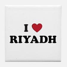 I Love Riyadh Tile Coaster