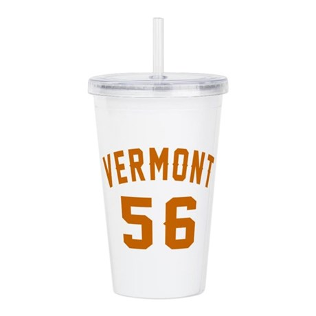 Vermont 56 Birthday De Acrylic Double-wall Tumbler