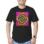 Color Men's Fitted T-Shirt (dark)