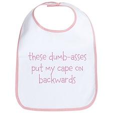 Dumbasses Cape Bib (girl/pink)