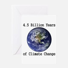 4.5 Billion Years of Climate Change Greeting Card