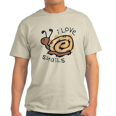 I Love Snails Light T-Shirt