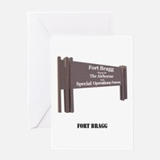 Fort Bragg with Text Greeting Card