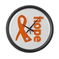 Hope Ribbon Spina Bifida Large Wall Clock