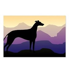 greyhound dog purple mountains Postcards (Package