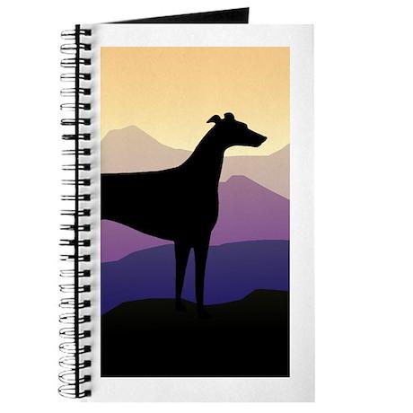 greyhound dog purple mountains Journal