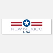 New Mexico-Star Stripes: Bumper Bumper Bumper Sticker