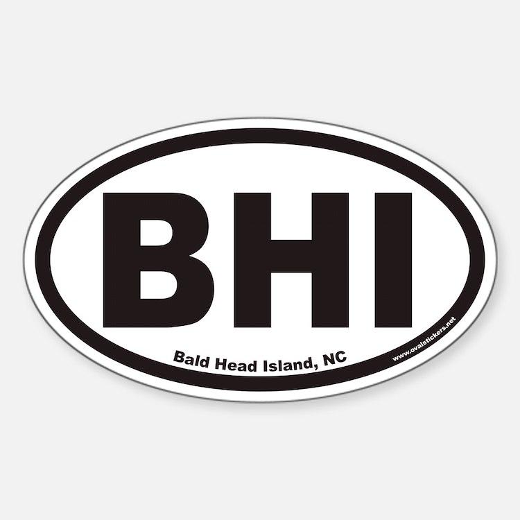 Bald Head Island BHI Euro Oval Decal