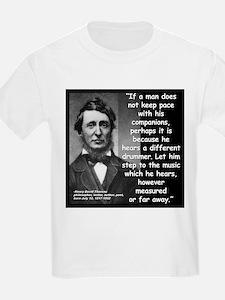 Thoreau Drummer Quote 2 T-Shirt