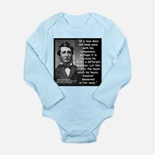 Thoreau Drummer Quote 2 Long Sleeve Infant Bodysui