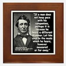 Thoreau Drummer Quote 2 Framed Tile