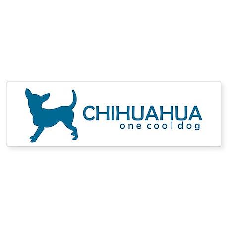 """Chihuahua """"One Cool Dog"""" Bumper Sticker"""