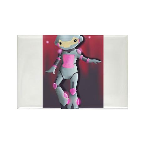 Robo+Girl Rectangle Magnet