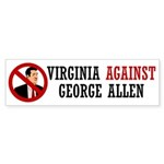 Virginia Against George Allen Bumper Sticker
