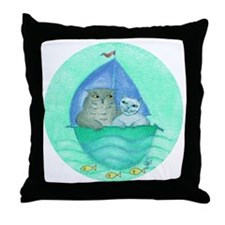 The Owl and the Pussycat - Throw Pillow