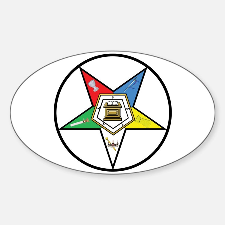 Order of the Eastern Star Circle Oval Decal
