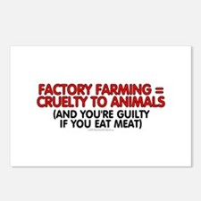 Factory farming Postcards (Package of 8)