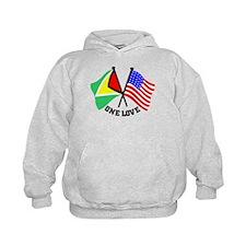One Love - Guyana/American flag t-shirt Hoody