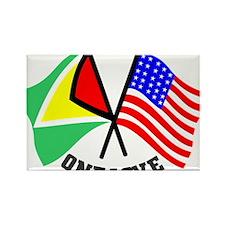 One Love - Guyana/American flag t-shirt Rectangle