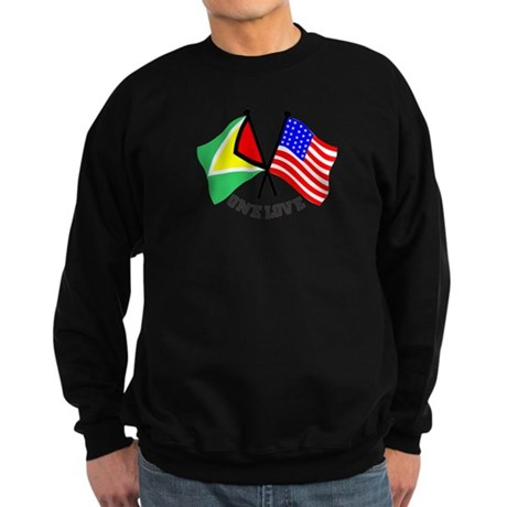 One Love - Guyana/American flag t-shirt Sweatshirt