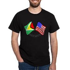 One Love - Guyana/American flag t-shirt T-Shirt