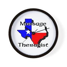 TX Massage Therapist Wall Clock