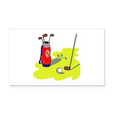 Golf Rectangle Car Magnet