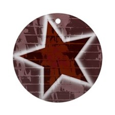 Rock Star Grunge Ornament (Round)