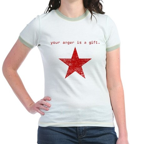 YOUR ANGER IS A GIFT Jr. Ringer T-Shirt