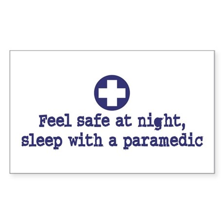 Feel Safe at Night Sleep with a Paramedic Sticker