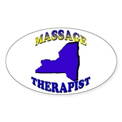 NY Massage Therapist Oval Decal