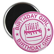 "Birthday Girl Hot Pink 2.25"" Magnet (100 pack)"