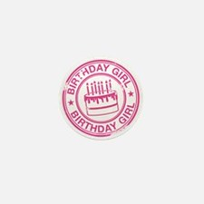 Birthday Girl Hot Pink Mini Button