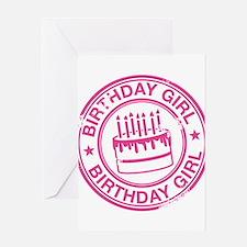 Birthday Girl Hot Pink Greeting Card
