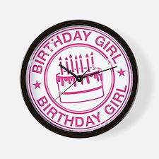 Birthday Girl Hot Pink Wall Clock