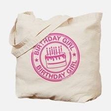 Birthday Girl Hot Pink Tote Bag
