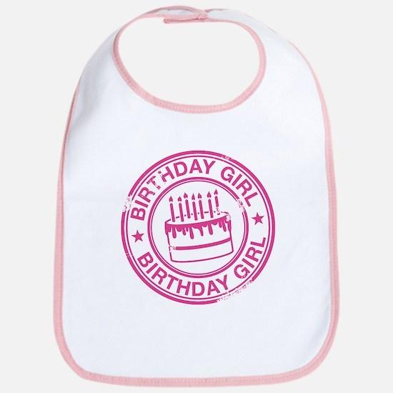 Birthday Girl Hot Pink Bib