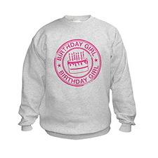 Birthday Girl Hot Pink Sweatshirt