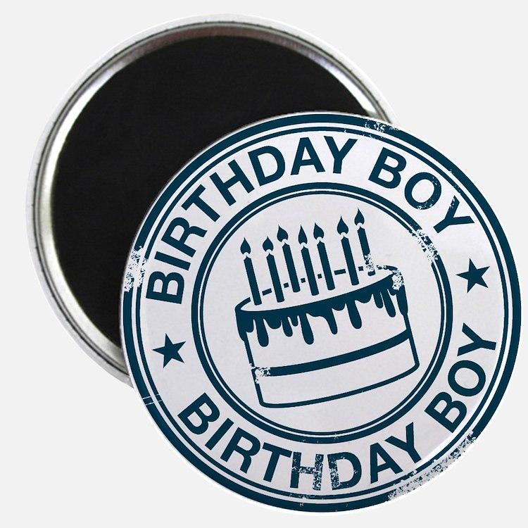 Birthday Boy Dark Blue Magnet