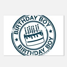 Birthday Boy Dark Blue Postcards (Package of 8)