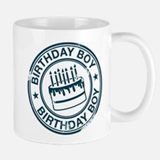 Birthday Boy Dark Blue Small Small Mug