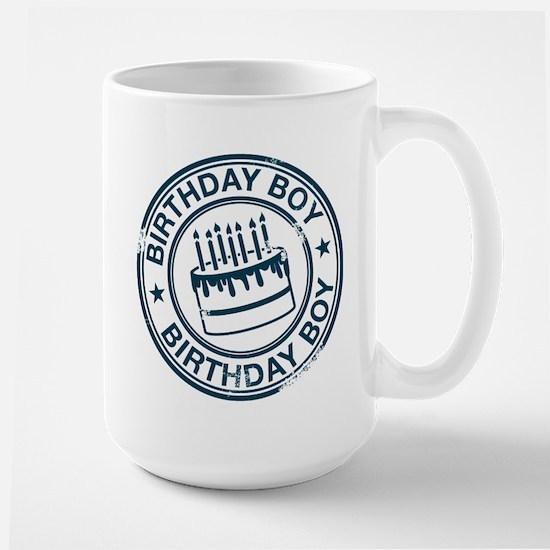 Birthday Boy Dark Blue Large Mug