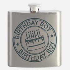 Birthday Boy Dark Blue Flask