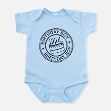 Birthday Boy Dark Blue Infant Bodysuit