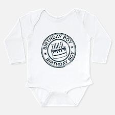 Birthday Boy Dark Blue Long Sleeve Infant Bodysuit