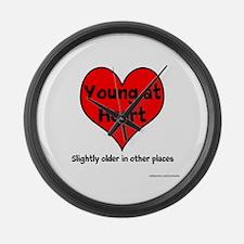 Young At Heart Large Wall Clock